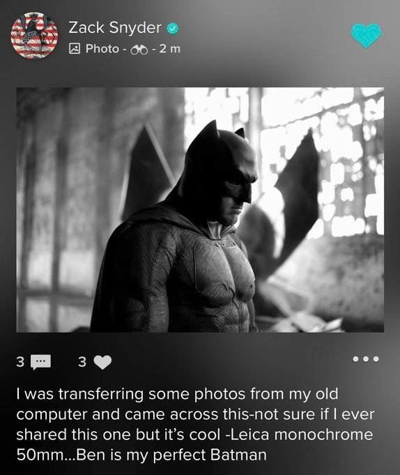 Zack Snyder Addresses Ben Affleck as the Perfect Batman